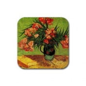 Still Life Vase with Oleanders and Books By Vincent Van Gogh Square Coasters