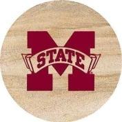 Thirstystone TSMSSU2 Thirstystone Natural Sandstone Coasters- Set of 4- Mississippi State
