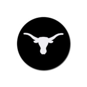 Longhorn texas Round Rubber Coaster set 4 pack Great Gift Idea