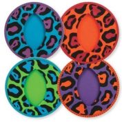 CR Gibson Sipper Slippers, Slip-On Silicone Stemware Coasters, Leaping Leopard