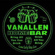 4x ccq46311-g VANALLEN Family Name Home Bar Pub Beer club Gift 3D Coasters