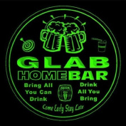 4x ccq16882-g GLAB Family Name Home Bar Pub Beer club Gift 3D Coasters
