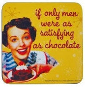 If Only Men Were As Satisfying As Chocolate Retro Coaster
