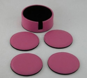 Hot Pink Leatherette Coasters