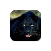 Black Panther Rubber Square Coaster set (4 pack) Great Gift Idea
