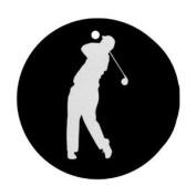 Golf golfing golfer Ornament round porcelain Christmas Great Gift Idea