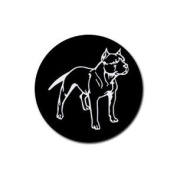 Pit bull pitbull Round Rubber Coaster set 4 pack Great Gift Idea
