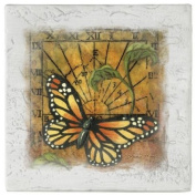 Sundial Butterfly - Distressed Drink Coasters - Style AELM11