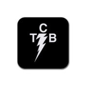 TCB elvis Rubber Square Coaster set (4 pack) Great Gift Idea