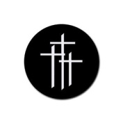 3 crosses trinity Round Rubber Coaster set 4 pack Great Gift Idea