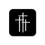 3 crosses trinity Rubber Square Coaster set (4 pack) Great Gift Idea