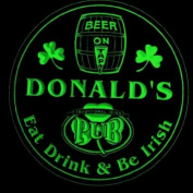 4x ccpa0015-g DONALD'S Irish Shamrock Pub Ale Bar Beer Etched Engraved 3D Coasters