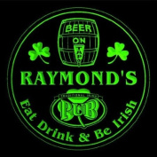 4x ccpa0036-g RAYMOND'S Irish Shamrock Pub Ale Bar Beer Etched Engraved 3D Coasters