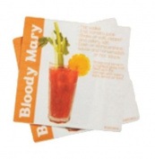 DCI Cocktail Napkins with Bloody Mary Drink Recipe, 20-Pack