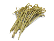 Miya Bamboo 100-Piece Cocktail Knotted Picks for Hors D'ouevres, 10.2cm