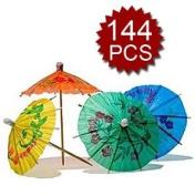 144 Cocktail drink Umbrellas Parasols Picks Great For Parties & Luau