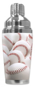 Mugzie® brand 470ml Cocktail Shaker with Insulated Wetsuit Cover - New Baseballs
