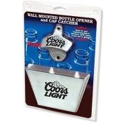Coors Light Bottle Opener / Medium Metal Cap Catcher Set