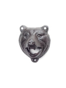 7.6cm Brown-Black Cast Iron Bear Wall Mount Beer Bottle Opener Lodge/Cottage Decor