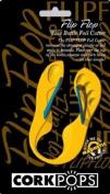 Cork Pops Wine bottle Foil Cutter in a yellow and Blue Flip Flop Sandal Design