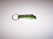 Bud Light Lime Green Metal Bottle Opener Keychain