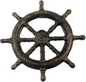 HomArt Cast Iron Ships Wheel Bottle Opener, 9.5cm , Bronze