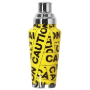 Wild Eye Designs Cocktail Shaker Caution 770ml | Glass Cocktail Shaker, Cobbler Cocktail Shaker