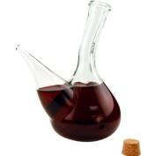 Hand-Blown Glass Porron Wine Pitcher
