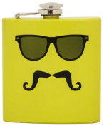 Island Dogs Moustache in Disguise Flask