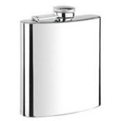 New - Calor Classic Mirror Finish 180ml Hip Flask - VF5003