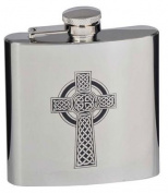 Celtic Cross 180ml Stainless Steel Hip Flask