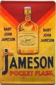 John Jameson Pocket Flask embossed steel sign