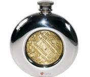 180ml Round Celtic Gold Flask