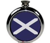 180ml Round St Andrews Flag Picture Flask