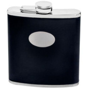 Eclipse II Black Leatherette Stainless Steel 530ml Hip Flask