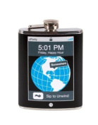 "Wild Eye Trendy ""5:01 PM Friday, Happy Hour...Sip to Unwind"" Blue Pixel Party Flask 210ml"
