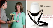 """WineYoke"" Party Time Hand Free Wine Glass Holder Necklace - Set of 2"