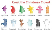 Vacu Vin Glass Markeres Christmas Crowd, Set of 12