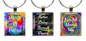 FUNNY QUOTES ~ Scrabble Tile Wine Glass Charms ~ Set #4 ~ PAIR & A SPARE ~ Set of 3 ~ Stemware Charms/Markers/Pendants
