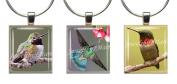 HUMMINGBIRDS ~ Scrabble Tile Wine Glass Charms ~ Set #2 ~ PAIR & A SPARE ~ Set of 3 ~ Stemware Charms/Markers/Pendants