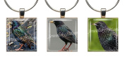 STARLINGS ~ Scrabble Tile Wine Glass Charms ~ Set #4 ~ PAIR & A SPARE ~ Set of 3 ~ Stemware Charms/Markers/Pendants
