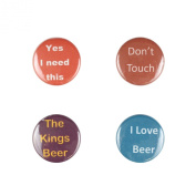 Il Bere Wine and Drink Charms Mens Collection, Beer Love