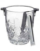 Bormioli Rocco Dedalo 930ml Glass Ice Bucket with Tongs