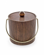 Mr. Ice Bucket 951-1 Walnut Woodgrain Ice Bucket, 2.8l