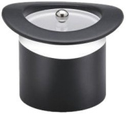 Kraftware Top Hats Black with White 2.8l Top Hat Ice Bucket with Band and Lucite Cover