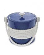 Mr. Ice Bucket 455-1 Navy Rope Ice Bucket, 2.8l