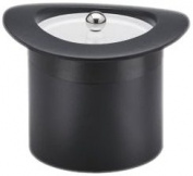 Kraftware Top Hats Black with Black 2.8l Top Hat Ice Bucket with Band and Lucite Cover