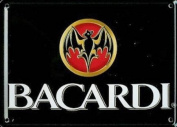 Bacardi miniature metal sign / metal postcard