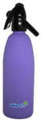 Whip-It 1-Litre Soda Syphon, Rubber Coated, Purple