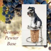 Schnauzer Grey Uncropped Tiny One Bottle Stopper DTB103B